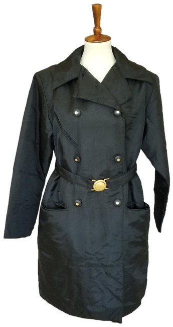 Item - Black Insulated Belted Coat Size 10 (M)