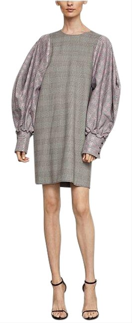 Item - Black Balloon Long Sleeve Houndstooth Mid-length Work/Office Dress Size 4 (S)