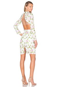 Asilio Floral Backless Lace Dress