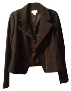 Ann Taylor LOFT Mortcycle Zipper black Jacket