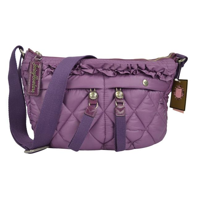 Juicy Couture Quilted Blake Puff Shoulder Convertible Glouster Purple Nylon Hobo Bag Juicy Couture Quilted Blake Puff Shoulder Convertible Glouster Purple Nylon Hobo Bag Image 3