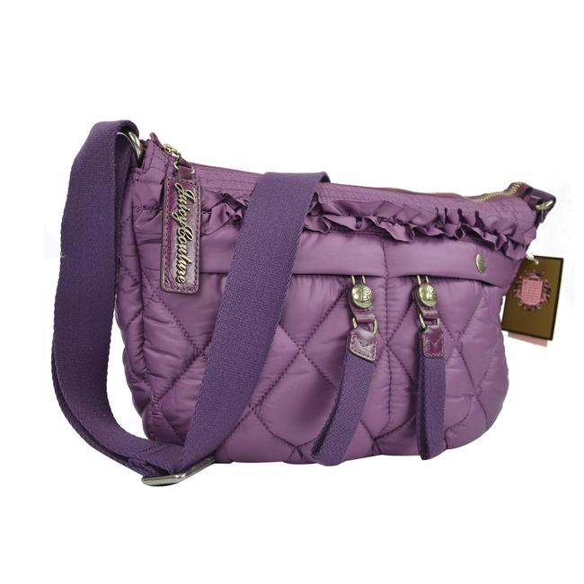 Juicy Couture Quilted Blake Puff Shoulder Convertible Glouster Purple Nylon Hobo Bag Juicy Couture Quilted Blake Puff Shoulder Convertible Glouster Purple Nylon Hobo Bag Image 4