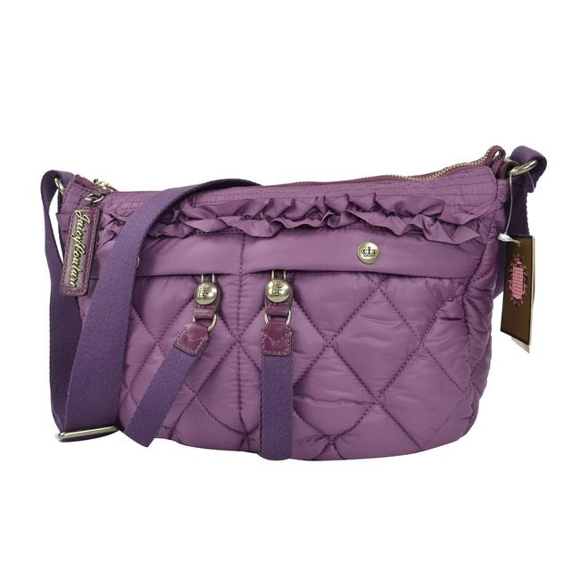 Juicy Couture Quilted Blake Puff Shoulder Convertible Glouster Purple Nylon Hobo Bag Juicy Couture Quilted Blake Puff Shoulder Convertible Glouster Purple Nylon Hobo Bag Image 5
