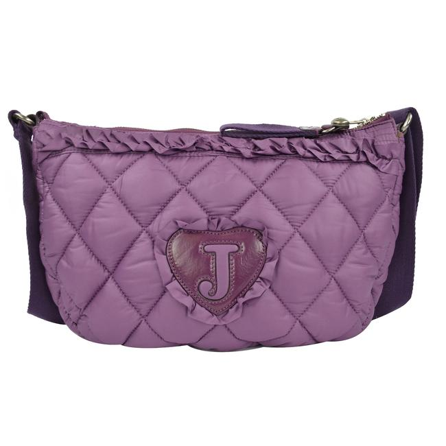 Juicy Couture Quilted Blake Puff Shoulder Convertible Glouster Purple Nylon Hobo Bag Juicy Couture Quilted Blake Puff Shoulder Convertible Glouster Purple Nylon Hobo Bag Image 6
