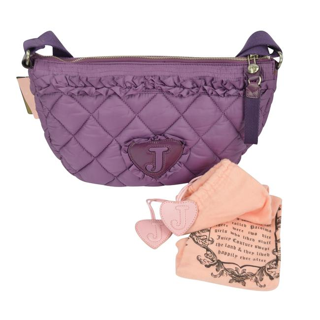 Juicy Couture Quilted Blake Puff Shoulder Convertible Glouster Purple Nylon Hobo Bag Juicy Couture Quilted Blake Puff Shoulder Convertible Glouster Purple Nylon Hobo Bag Image 9