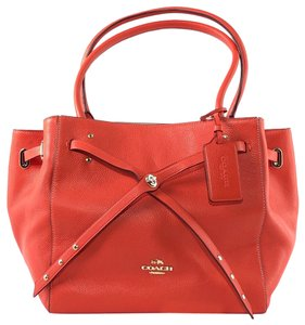 Coach Kate Spade Leather Carryall Shoulder Tote in Orange