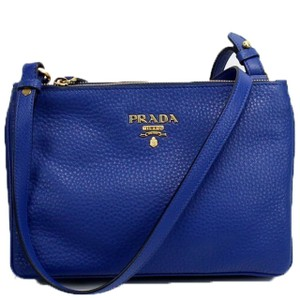 Prada Leather Gold Hardware Cross Body Bag