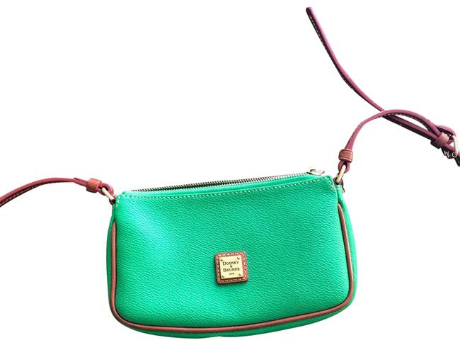Item - Classic And Green Leather Cross Body Bag