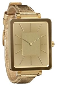 Nixon A273502 Tahlia Women's Gold Leather Band With Gold Analog Dial Watch