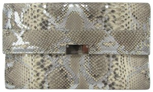 Jimmy Choo Reese Python Leather Accessories Multicolor Clutch