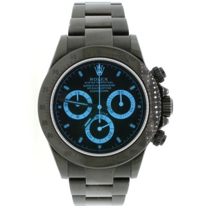 Rolex Cosmograph Daytona Black PVD Stainless Steel 40MM Mens Oyster Watch