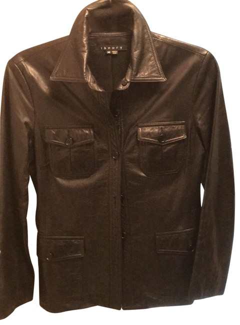 Item - Black Lambskin 4 Patch Safari Jacket Size 8 (M)