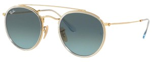 Ray-Ban Ray Ban Round Blue Metal Frame Sunglasses RB3647N