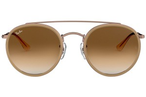 Ray-Ban Ray Ban Round Brown Gradient Metal Frame Sunglasses RB3647N