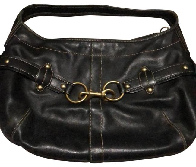 Item - Black Leather Hobo Bag