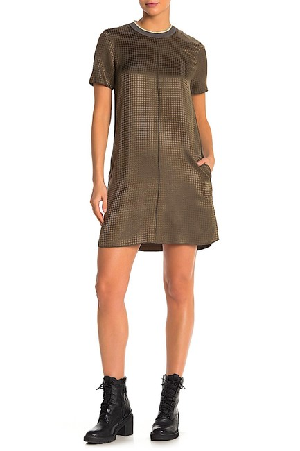 Item - Olive with Tag Ali T-shirt Short Casual Dress Size Petite 4 (S)