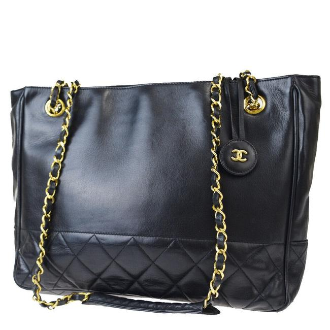 Item - Timeless Shoulder Bag Cc Quilted Matelasse Chain Black Leather Tote