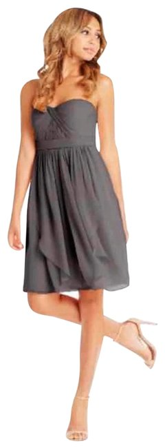 Item - Charcoal Gray Keira Short Formal Dress Size 6 (S)