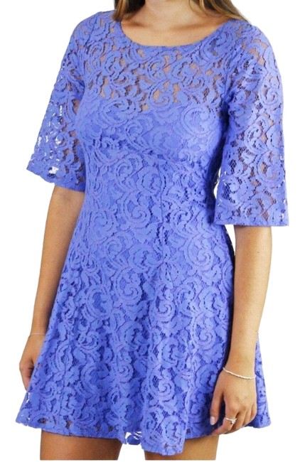 Item - Periwinkle/Purple Gypsy Mountain Lace Short Casual Dress Size 4 (S)