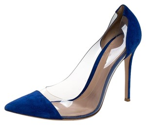Gianvito Rossi Suede Pointed Toe Blue Pumps