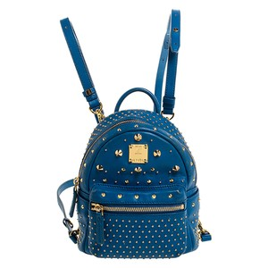 MCM Fabric Leather Backpack