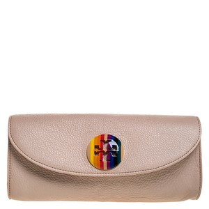 Tory Burch Fabric Leather Pink Clutch