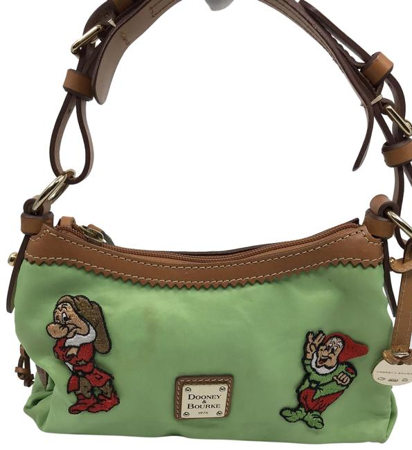 Item - Custom Vint. Patches Light Green Leather Tote