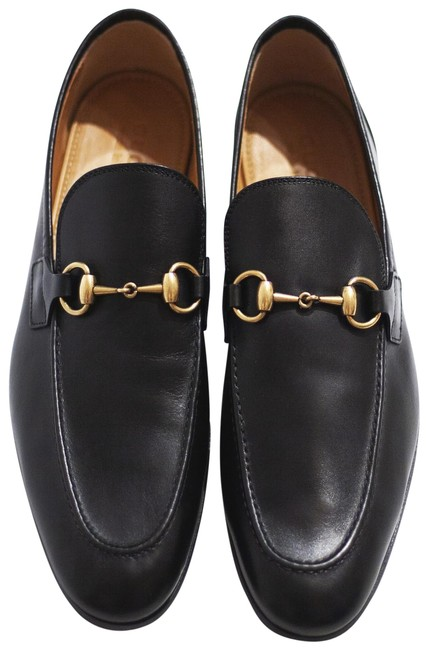 Gucci Black Horsebit Joordan Leather Loafer Gold Formal Shoes Size US 10 Regular (M, B) Gucci Black Horsebit Joordan Leather Loafer Gold Formal Shoes Size US 10 Regular (M, B) Image 1