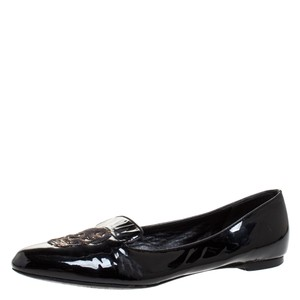 Alexander McQueen Ballet Patent Leather Leather Black Flats