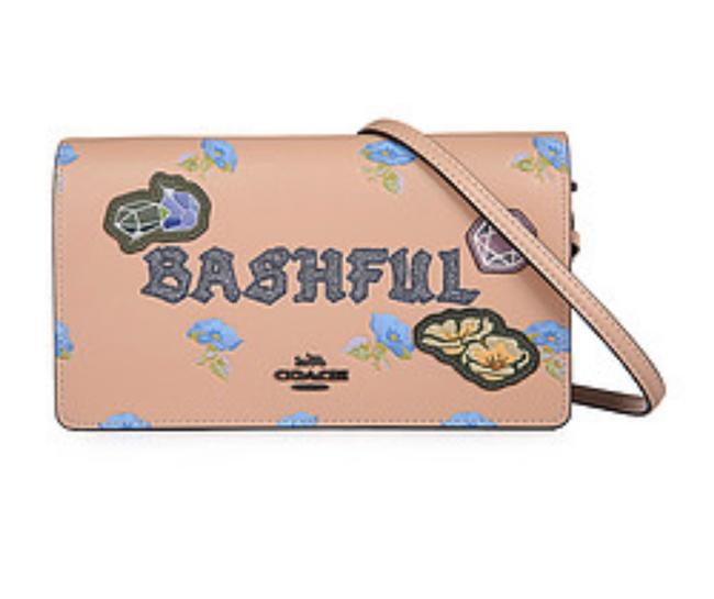 Item - Crossbody Coach X Disney Bashful Foldover 33047 Nude Pink Leather Clutch