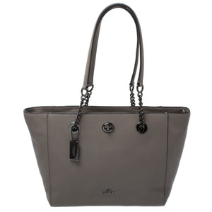 Coach Leather Nylon Tote in Grey