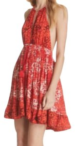 Free People short dress Red Summer Halter Blouse on Tradesy