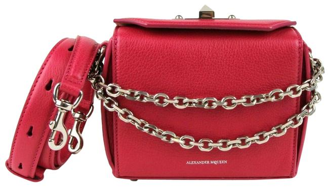 Item - Box 16 Silver Chain Handbag 479767 5640 Magenta Leather Cross Body Bag