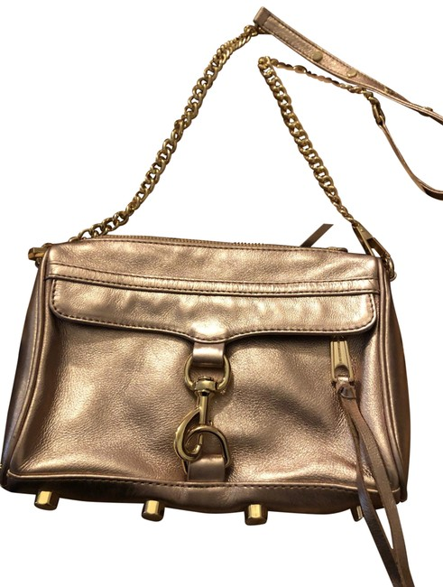 Item - Shoulder Crossbody/ Rose Gold Leather Cross Body Bag