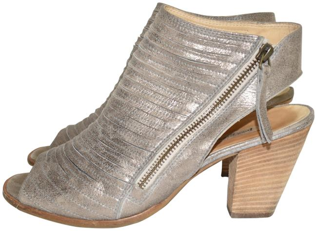 Item - Smoke Cayanne Leather Peep Toe Bootie Boot (Pg4 Sandals Size US 9 Regular (M, B)
