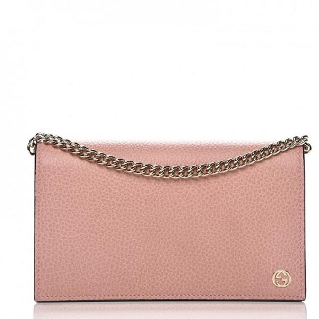 Gucci Strap Wallet on Chain Betty Pink Leather Cross Body Bag Gucci Strap Wallet on Chain Betty Pink Leather Cross Body Bag Image 1