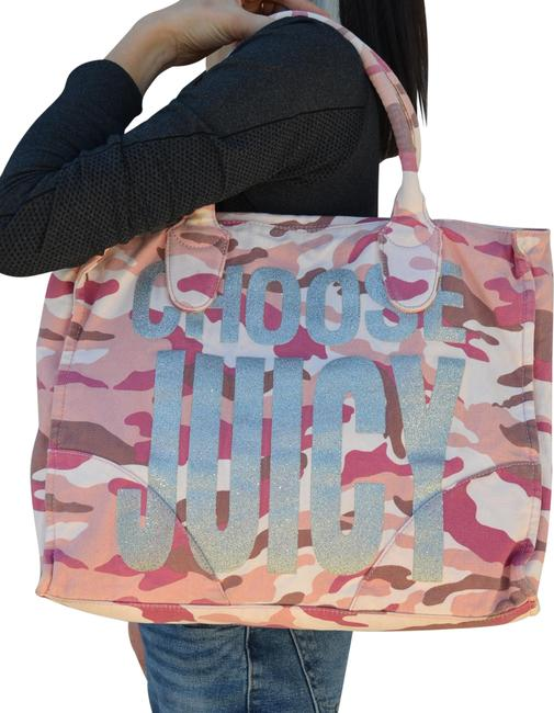"""Item - """"Choose Power Camouflage Multicolor Canvas Tote"""