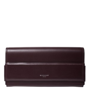 Givenchy Burgundy Leather Horizon Continental Wallet