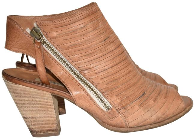 Item - Cuoio Brown Cayanne Leather Peep Toe Bootie Boot (Pg4) Sandals Size US 7.5 Regular (M, B)