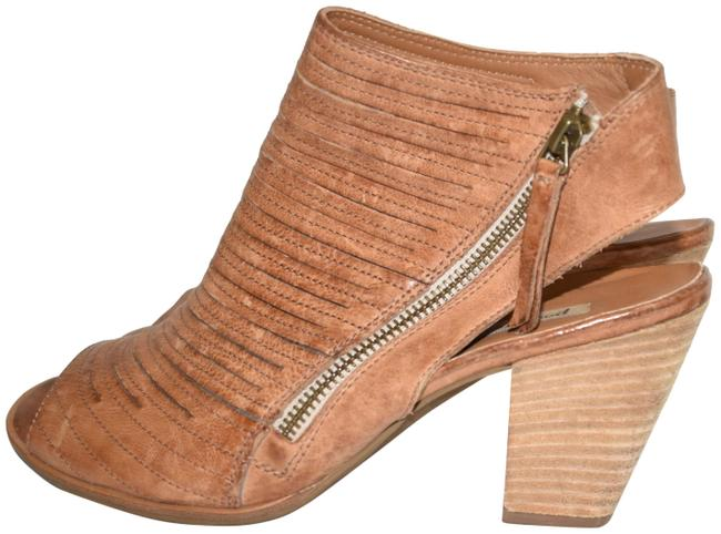 Item - Cuoio Brown Cayanne Leather Peep Toe Bootie Boot (Pg4) Sandals Size US 8.5 Regular (M, B)