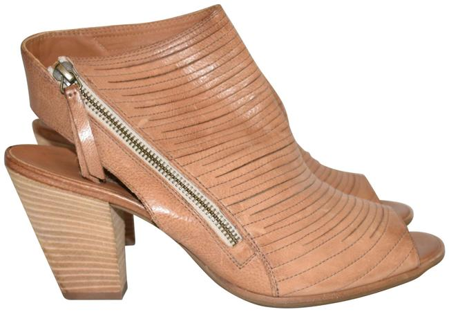 Item - Cuoio Brown Cayanne Leather Peep Toe Bootie Boot (Pg4 Sandals Size US 10.5 Regular (M, B)