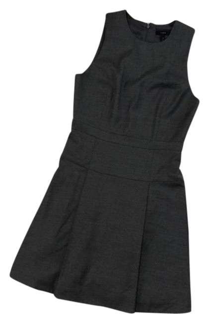 Item - Gray Pleated Wool Blend Mid-length Work/Office Dress Size 6 (S)