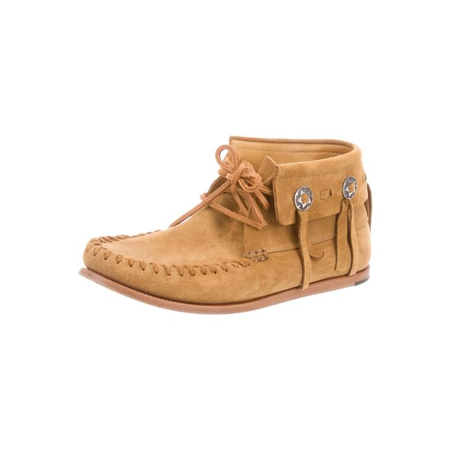 Saint Laurent Tan Brown Silver Box W Sl Suede Moccasin W/ Boots/Booties Size US 6.5 Regular (M, B) Saint Laurent Tan Brown Silver Box W Sl Suede Moccasin W/ Boots/Booties Size US 6.5 Regular (M, B) Image 1