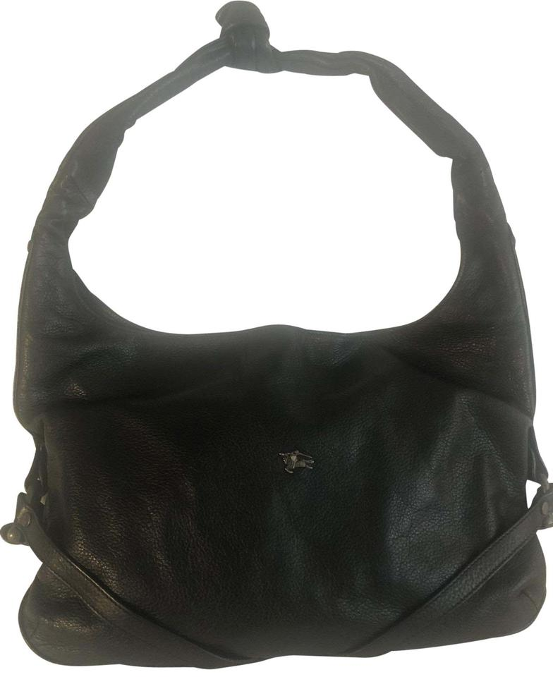 Burberry Prorsum Black Leather Hobo Bag