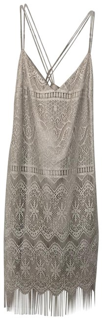 Item - Silver Gold 54163 Mid-length Cocktail Dress Size 8 (M)