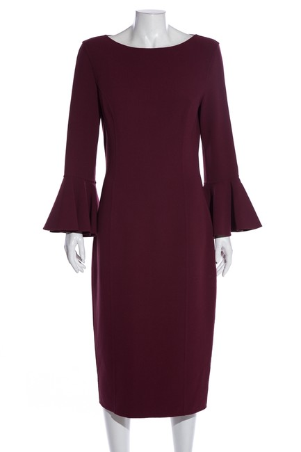Item - Maroon Mid-length Cocktail Dress Size 10 (M)