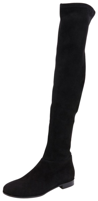 Item - Black Myren Stretch-suede Over-the-knee Boots/Booties Size US 7.5 Regular (M, B)