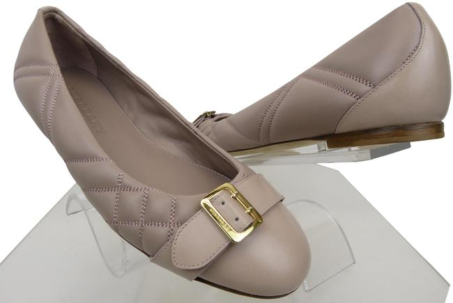 Item - Pink Avonwick Blush Quilted Leather Gold Logo Buckle Flats Size EU 38.5 (Approx. US 8.5) Regular (M, B)