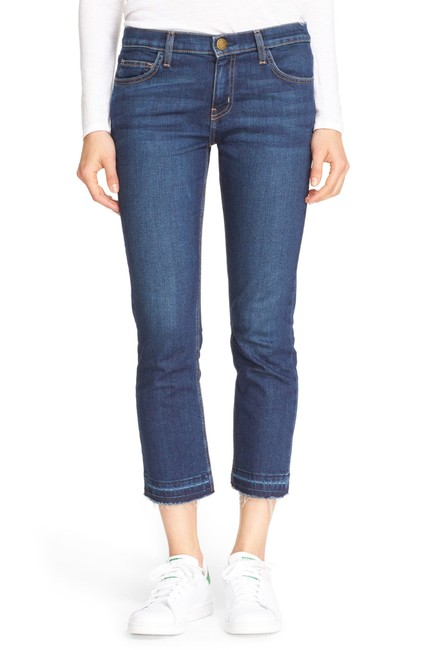 Item - Blue Medium Wash The Cropped Ankle  Straight Leg Jeans Size 30 (6, M)