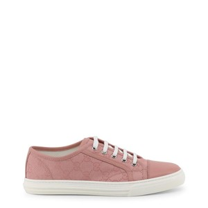 Gucci Canvas Leather Gg Sneakers Pink Flats